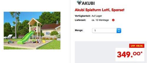 Akubi Spielturm Lotti - jetzt 14% billiger