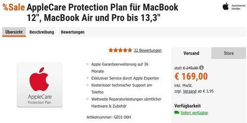 """AppleCare Protection Plan für MacBook 12"""", MacBook Air und Pro bis 13,3"""" - jetzt 13% billiger"""