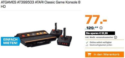ATGAMES AT399503 ATARI Classic Game Konsole 8 HD - jetzt 37% billiger