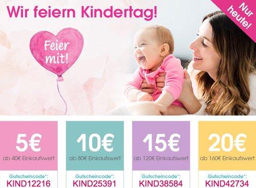 Babymarkt.de - bis zu 20€ Rabatt zum Kindertag auf fast alles und nur heute (01.06.18) - jetzt 10% billiger