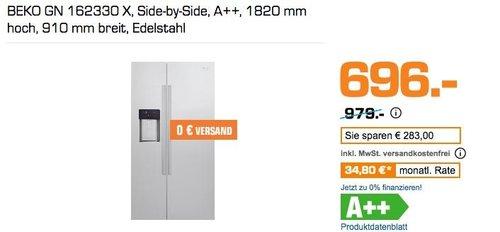 BEKO GN 162330 X Side-by-Side Kühlgefrierkombination - jetzt 28% billiger