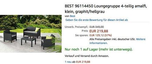 Best Freizeitmöbel Loungegruppe Amalfi 4-teilig - jetzt 26% billiger