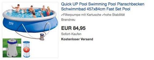 Bestway Fast Set Pool 457x84cm mit Filterpumpe - jetzt 15% billiger