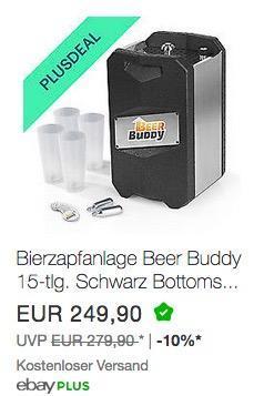 Bierzapfanlage Beer Buddy für 5L-Fässer - jetzt 10% billiger