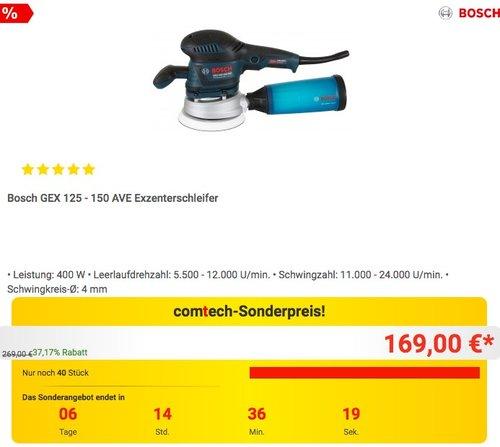 Bosch GEX 125 - 150 AVE Exzenterschleifer - jetzt 8% billiger