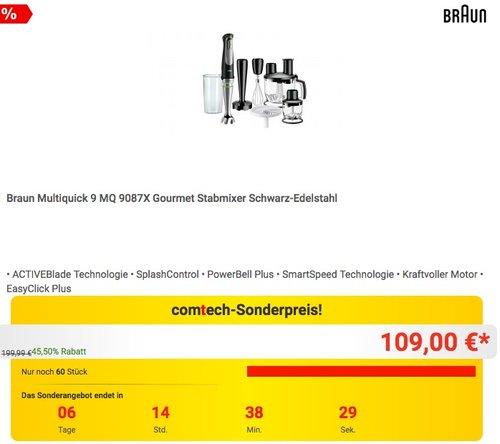 Braun Multiquick 9 MQ 9087X Gourmet Stabmixer - jetzt 14% billiger