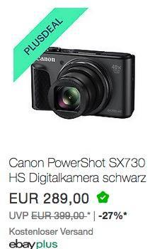 Canon PowerShot SX730 HS Digitalkamera (20,3 MP CMOS-Sensor, 40 fach Zoom, Full HD, WLAN/Bluetooth) schwarz - jetzt 10% billiger