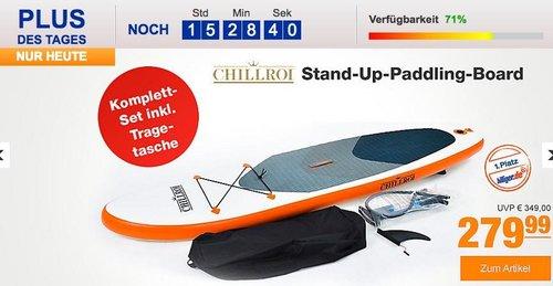 Chillroi Stand-Up-Paddling-Board Komplett-Set inkl. Tragetasche, Länge 297 cm - jetzt 9% billiger