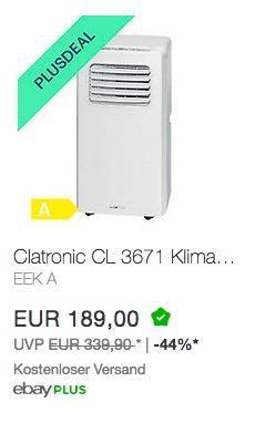 Clatronic CL 3671 Klimagerät - jetzt 20% billiger
