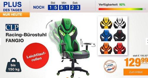 CLP Racing-Bürostuhl FANGIO mit hochwertiger Polsterung und Kunstlederbezug in verschiedenen Farben - jetzt 7% billiger