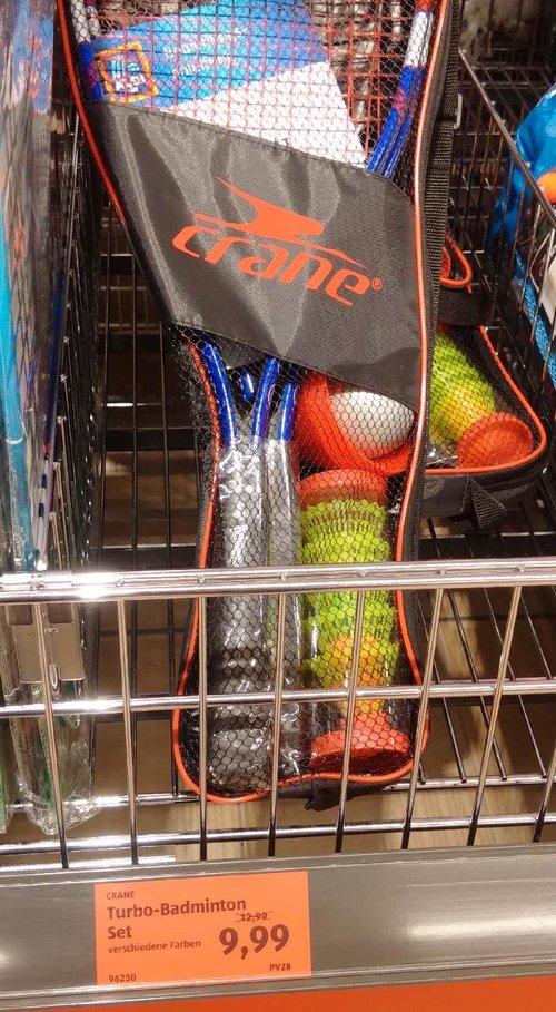 CRANE Turbo- Badminton Set - jetzt 23% billiger