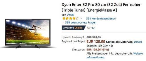 Dyon Enter 32 Pro 80 cm (32 Zoll) Fernseher - jetzt 17% billiger