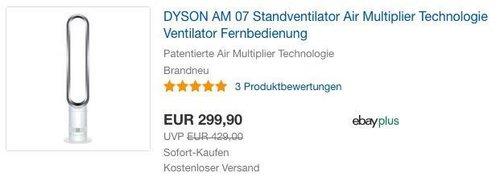 DYSON AM 07 Standventilator - jetzt 4% billiger