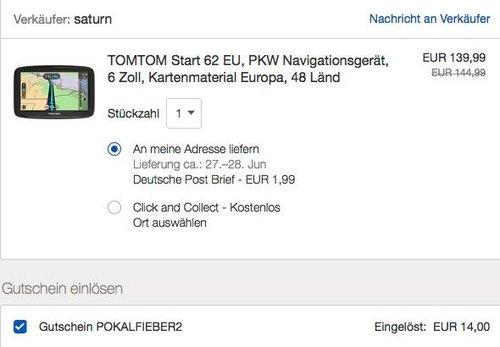 eBay 10% Rabatt (max. 50€) auf Autoteile & Zubehör: z.B. TOMTOM Start 62 EU PKW Navigationsgerät - jetzt 10% billiger