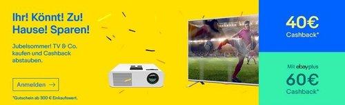eBay Aktion - TV & Co. ab 300€ kaufen plus 40€ (60€ für Plus Mitglieder) Gutschein: z.B. Samsung UE-55MU6199 138cm 55 Zoll UHD 4K LED Fernseher - jetzt 7% billiger