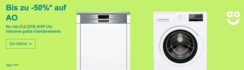 eBay AO.de - Aktion: z.B. Siemens SN56P597EU iQ500 Einbau-Geschirrspüler - jetzt 20% billiger