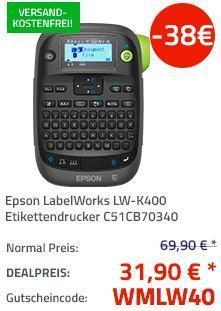 Epson LabelWorks LW-K400 Etikettendrucker - jetzt 54% billiger