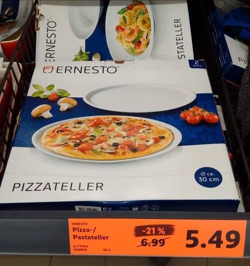 ERNESTO Pizzateller 30 cm 2 Stück - jetzt 21% billiger
