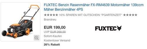 FUXTEC Benzin Rasenmäher FX-RM4639 - jetzt 10% billiger