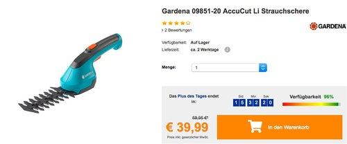 Gardena 09851-20 AccuCut Li Strauchschere - jetzt 25% billiger