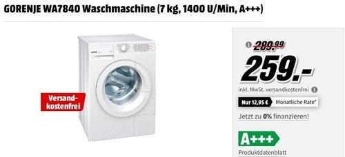 GORENJE WA7840 Waschmaschine (7 kg, 1400 U/Min, A+++) - jetzt 11% billiger