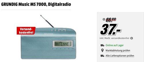 GRUNDIG Music MS 7000 DAB+ Radio in Mint/Silber - jetzt 37% billiger