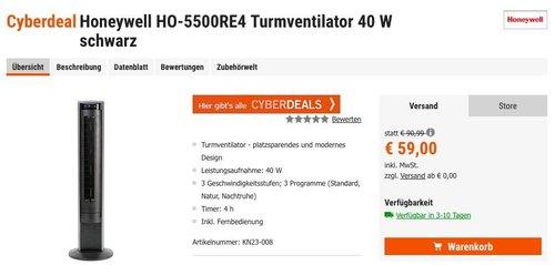 Honeywell HO-5500RE Turmventilator - jetzt 9% billiger