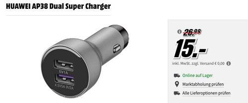 HUAWEI AP38 Dual Super Charger, USB-KFZ-Schnellladegerät - jetzt 44% billiger