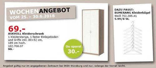 IKEA ASKVOLL Kleiderschrank - jetzt 30% billiger
