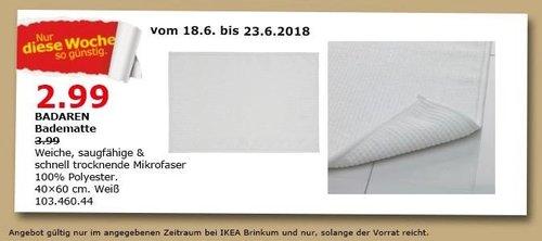 IKEA BADAREN Badematte - jetzt 25% billiger
