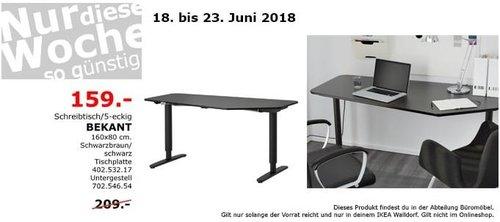 IKEA BEKANT Schreibtisch - jetzt 24% billiger