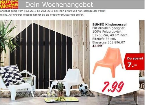 IKEA BUNSÖ Kindersessel - jetzt 47% billiger