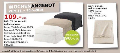 IKEA FÄRLÖV Hocker mit Aufbewahrung - jetzt 45% billiger