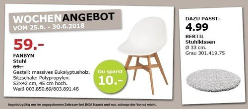 IKEA FANBYN Stuhl - jetzt 14% billiger