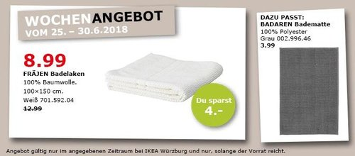 IKEA FRÄJEN Badelaken - jetzt 31% billiger