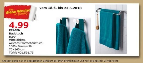 IKEA FRÄJEN Badetuch - jetzt 29% billiger