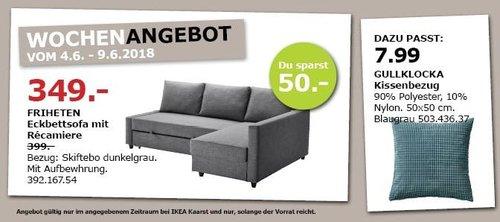 IKEA FRIHETEN Ecksofa mit Recamiere - jetzt 13% billiger