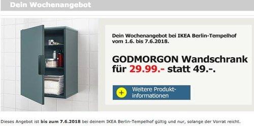 IKEA GODMORGON Wandschrank,grautürkis - jetzt 39% billiger