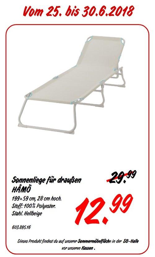 IKEA HAMÖ Sonnenliege - jetzt 57% billiger