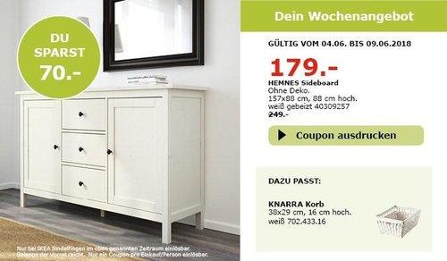 IKEA HEMNES Sideboard,157x88 cm, 88 cm hoch - jetzt 28% billiger