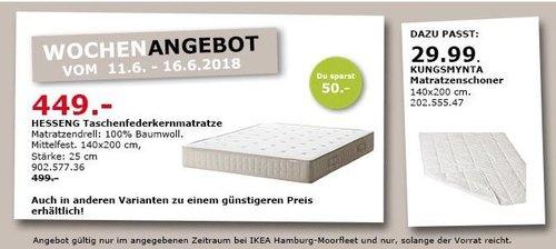 IKEA HESSENG Taschenfederkernmatratze - jetzt 10% billiger
