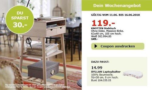 IKEA KNOTTEN Stehtisch - jetzt 20% billiger