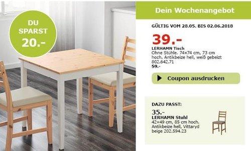 IKEA LERHAMN Tisch - jetzt 34% billiger