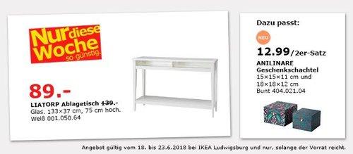 IKEA LIATORP Ablagetisch - jetzt 36% billiger