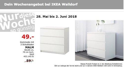 IKEA MALM Kommode mit 3 Schubladen - jetzt 17% billiger