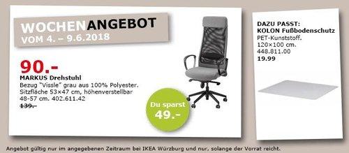 IKEA MARKUS Drehstuhl, grau - jetzt 29% billiger