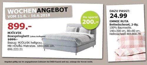IKEA MJÖLVIK Boxspringbett - jetzt 18% billiger