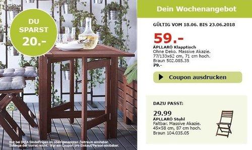 IKEA ÄPLLARÖ Klapptisch - jetzt 25% billiger