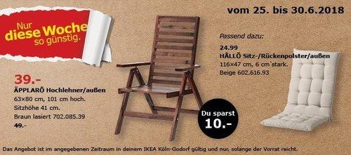 IKEA ÄPPLARÖ Hochlehner - jetzt 20% billiger
