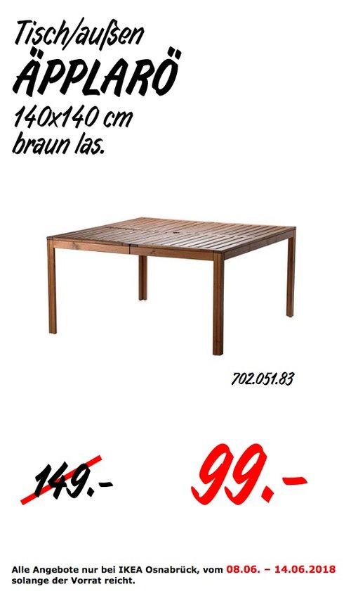 IKEA ÄPPLARÖ Tisch für außen - jetzt 34% billiger